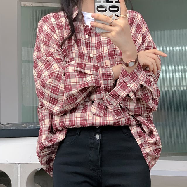 カジュアルチェックシャツ YH8665