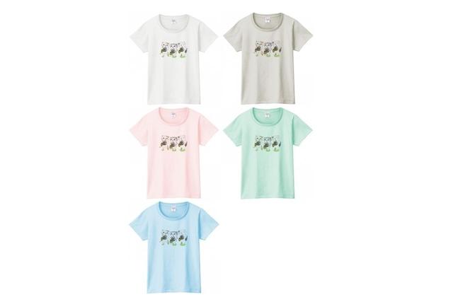ホルン3匹猫のTシャツ