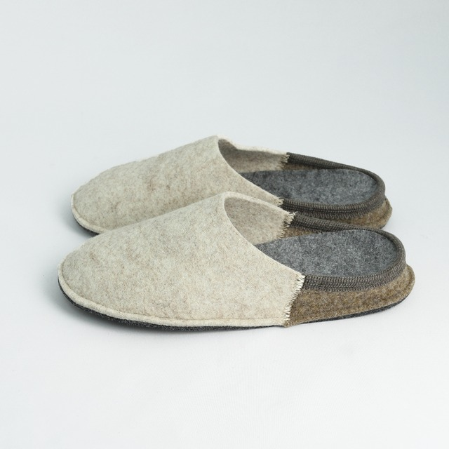 NUVOLA BICO ルームシューズ  Beige / brown[ Le Clare ]