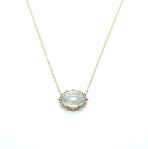 Granulation 8×6 gem Necklace - Opal