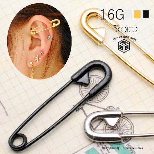 ボディピアス 16G 安全ピン フェイク ハロウィン 片耳 軟骨ピアス TSB028 TPB076