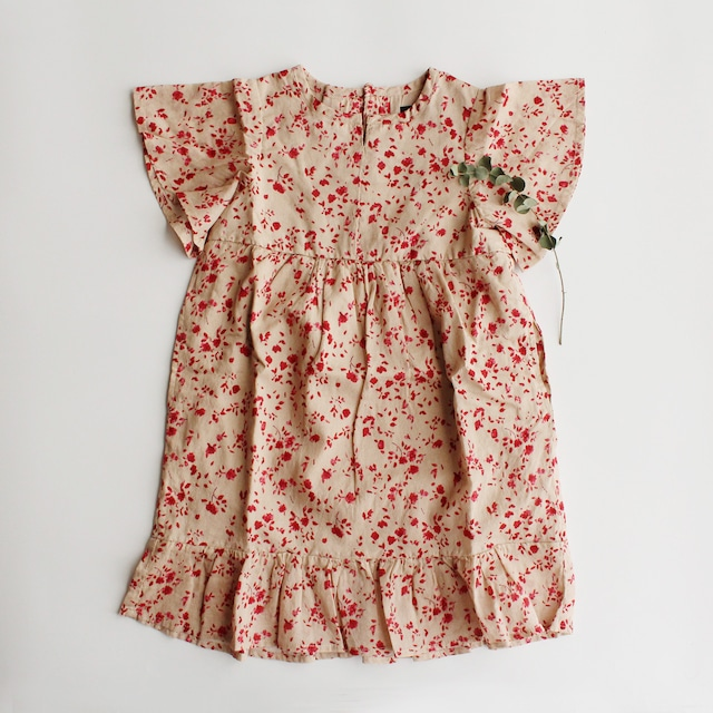 floral rétro one-piece ジュニア・ママサイズ(M)