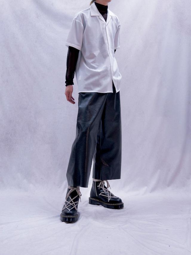 【MENS - 1 size】LEATHER CROP PANT / Black