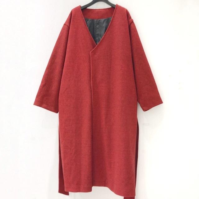 発掘!!【2021緊急事態延長SALE】 keisukeyoneda wa gown coat  red×black