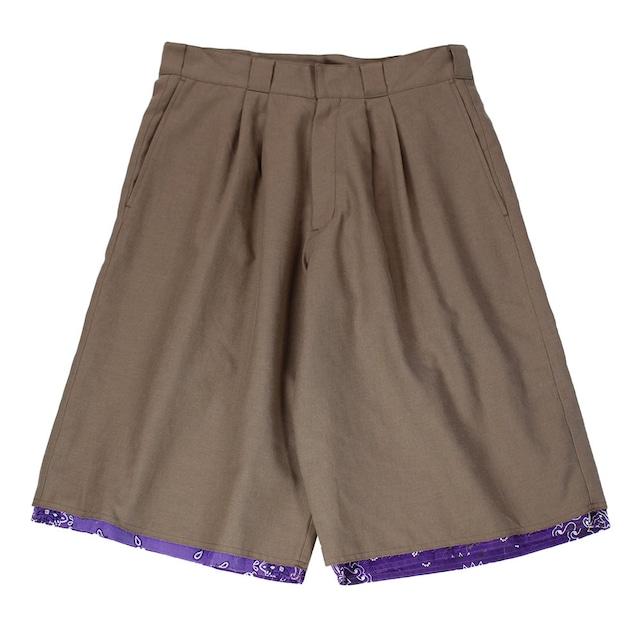 CHILDREN OF THE DISCORDANCE Wide Short Pants Khaki