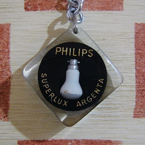 オランダ 電気製品メーカーPHILIPS[フィリップス]電球 フランス広告ブルボンキーホルダー