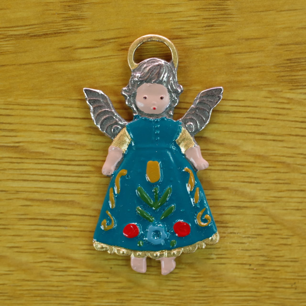 錫の飾り 前向きの天使