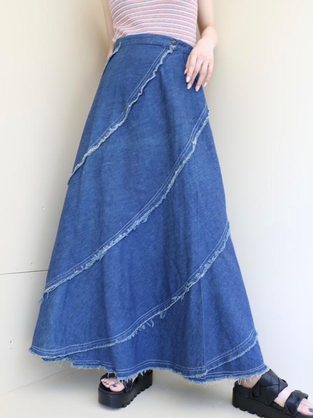 design denim skirt / 6SSSK21-24