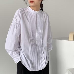 Tensel cotton pleats shirt(テンセルコットンプリーツシャツ)a-844