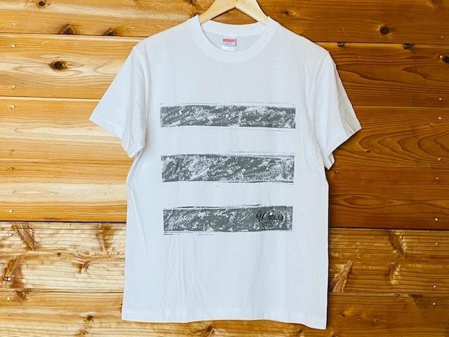 スリーラインロゴTシャツ(ホワイト)
