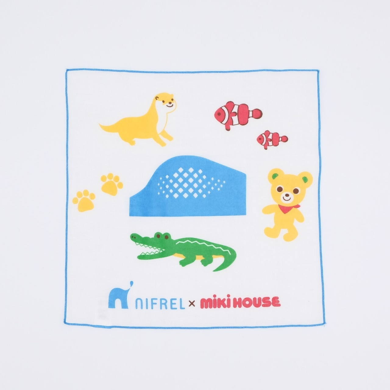 MIKI HOUSE × NIFREL ガーゼハンカチ(青)