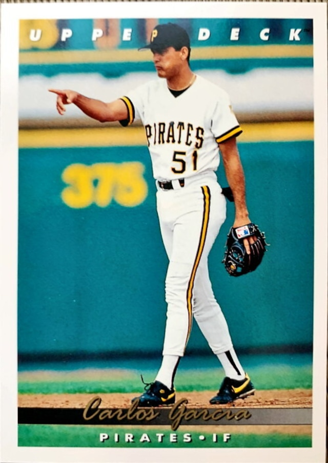 MLBカード 93UPPERDECK Carlos Garcia #334 PIRATES