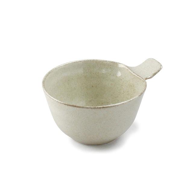 aito製作所 「ナチュラルカラー Natural Color」取っ手付きカップ ボウル 皿 高さ7.3cm ベージュ 美濃焼 517055