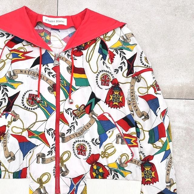 Jp vtg Chalet Blanc full pattarn hoodie