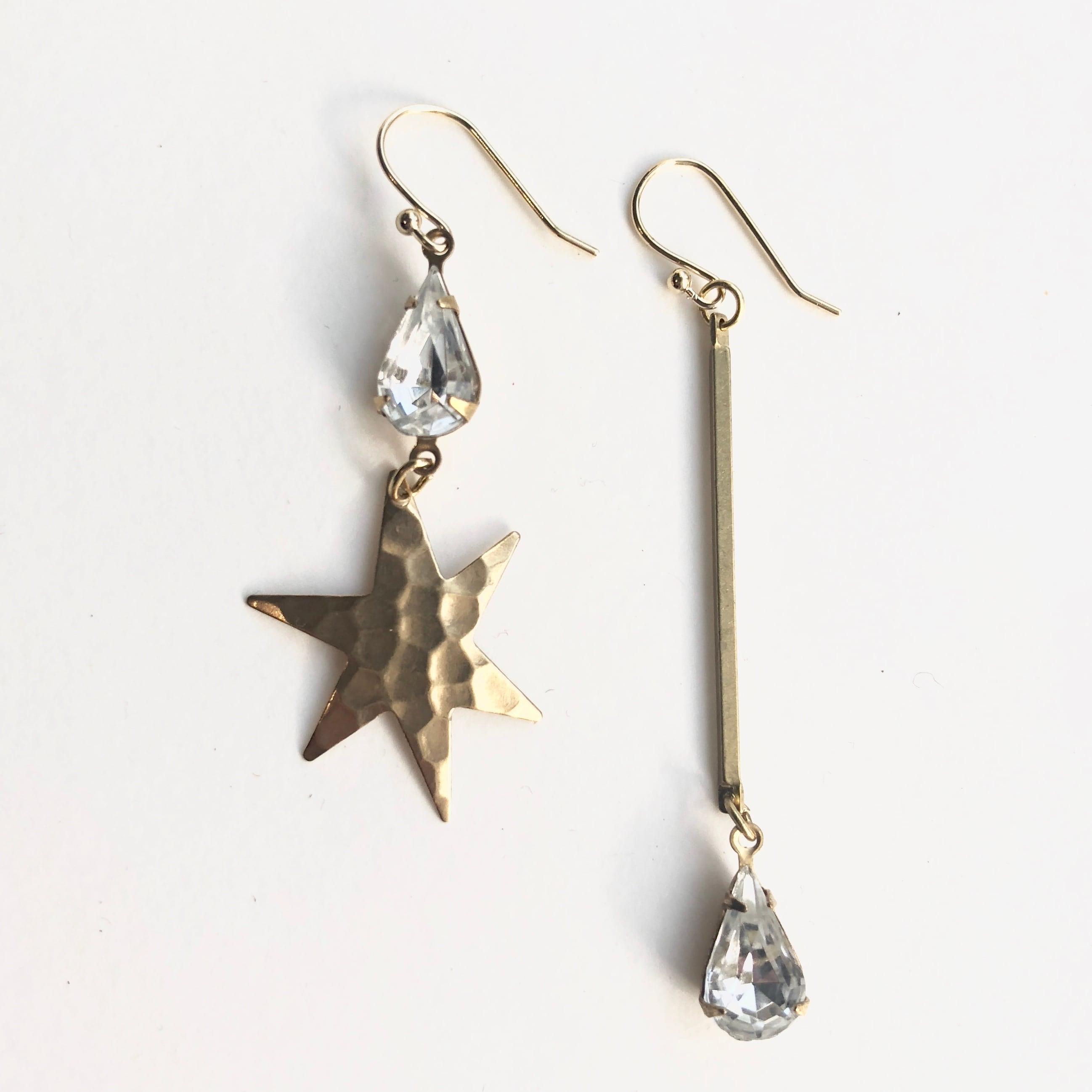 Starglass drop earrings G-001