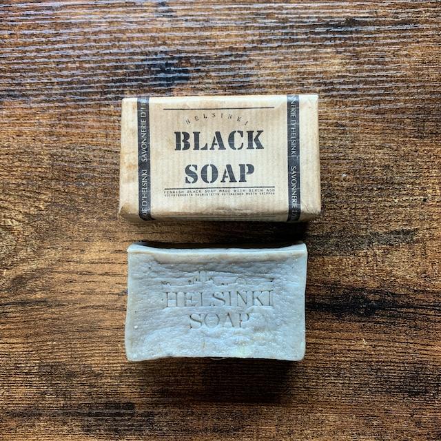 """ The BLACK SOAP / 植物油と植物灰原料のナチュラルソープ """