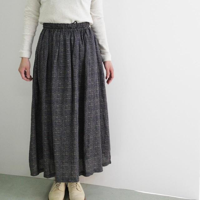 YARRA ヤラ YR-91-042 小花プリントリネンスカート オリジナルプリント インド製スカート
