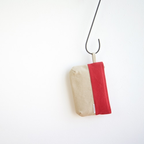CANVAS FLAT POUCH S / RD×GB