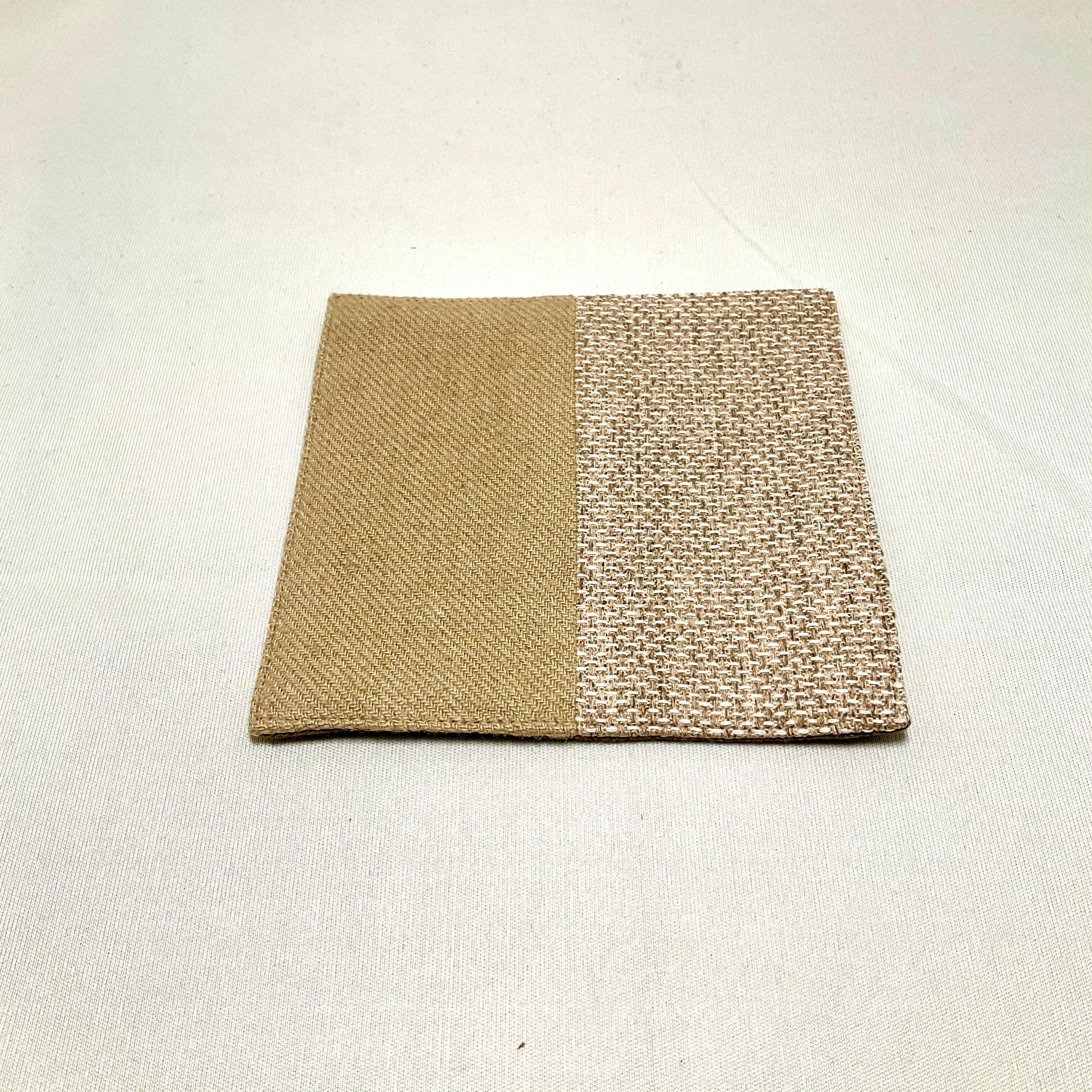 【ワーキングオフィス】布コースター・樹林(イエロー・ターコイズ)IKI1380