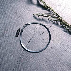 Y1909KHA300【YArKA/ヤーカ】silver925 flat chain anklet[SNK]/フラットチェーンアンクレット シルバー925