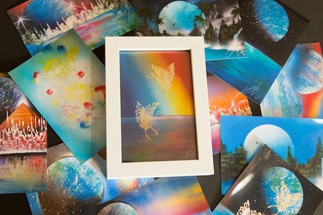 TOMOYA Art Collection ポストカード12枚セット フレーム付き!!