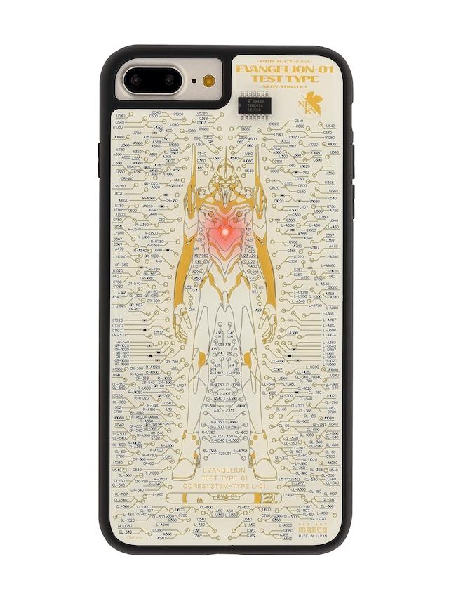 FLASH EVA01 基板アート iPhone7/8 Plusケース 白【東京回路線図A5クリアファイルをプレゼント】