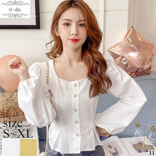 T11 韓国トップス きれいめトップス 大人可愛いトップス おしゃれシャツ フェミニンシャツ 2color