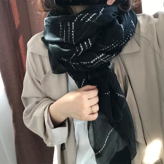 【アパレル・その他】モノトーン スカーフ