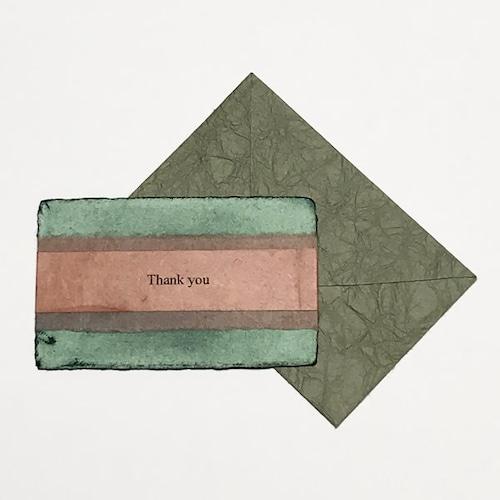和紙のサンキューカード(Thankyou008)
