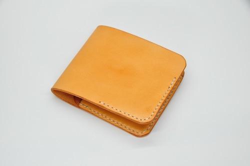 ヌメ革シンプルウォレット Aタイプ(カードポケット横入れ)