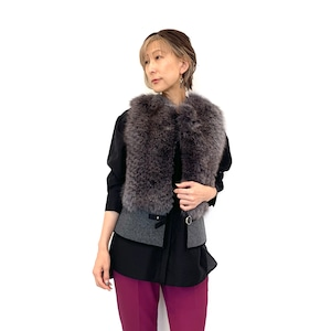 DOUBLE STANDARD CLOTHING  SOV. (ダブルスタンダードクロージング  ソブ) FOXファーベスト 0305220213