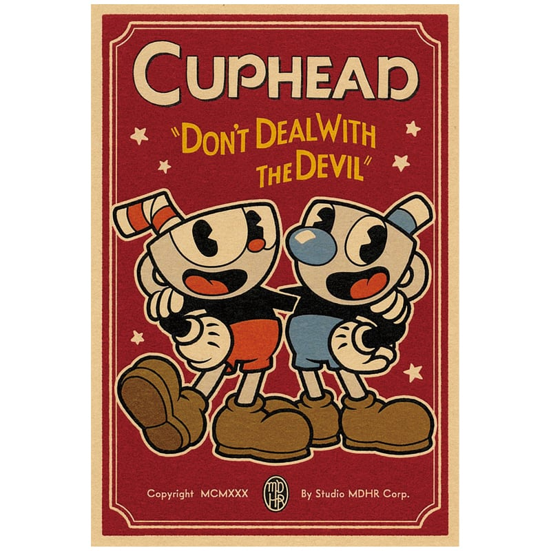 CUPHEAD ( カップヘッド ) ポストカード⑤ カップヘッド&マグマン A / エンスカイ