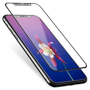 iPhone X 全面保護 強化ガラスフィルム 日本硝子 新型 アイフォン X スマホ 液晶割れ防止 画面保護フィルム 貼り付け簡単 超おすすめ