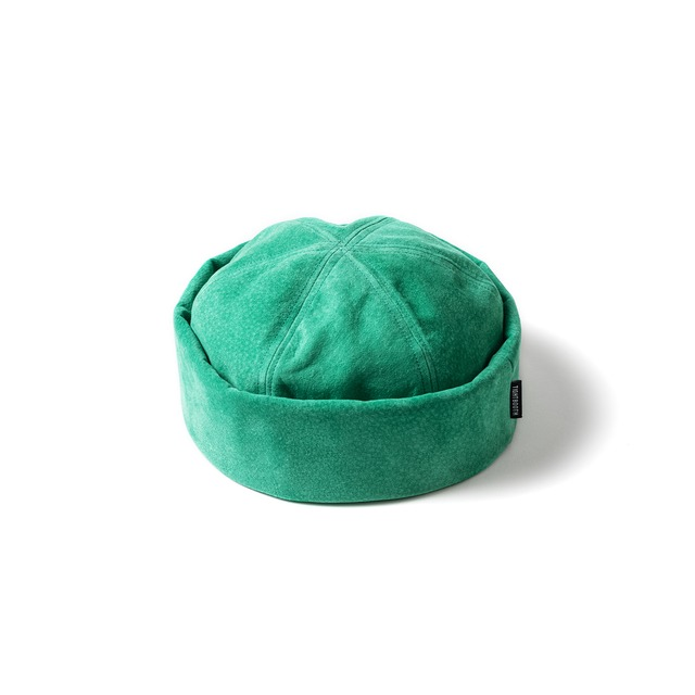 TIGHTBOOTH  SUEDE ROLL CAP TURQUOISE