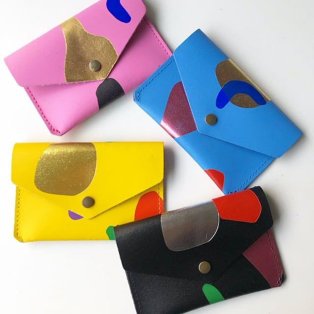 "Ark Colour Design ""ABSTRACT POPPER PURSE""本革 財布 小銭入れ 名刺ケース"