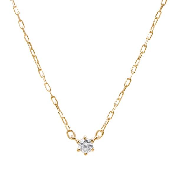 K10YGダイヤモンドネックレス 020201009201
