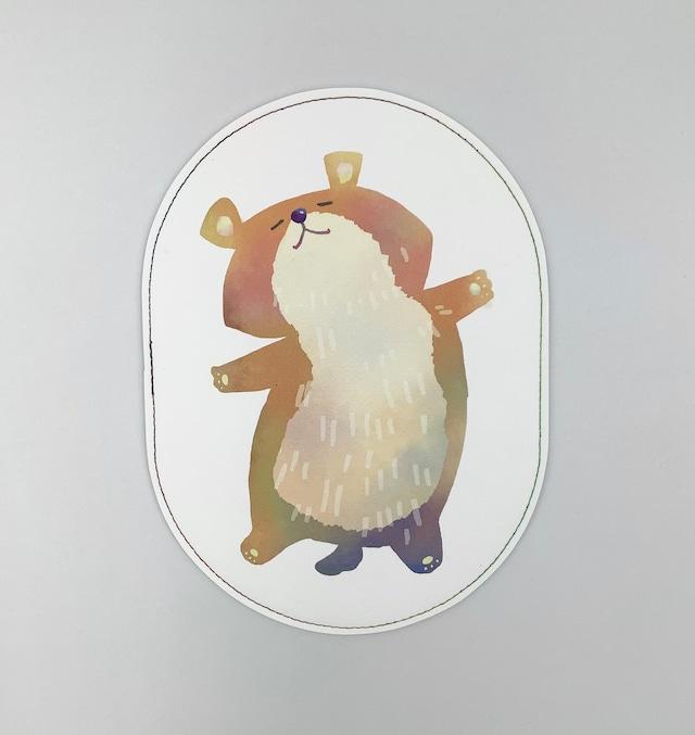 イクタケマコト おなかさすさすマウスパッド(くま)
