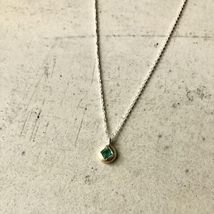 【2OMPSV】『One off』  Emerald square cut pendant