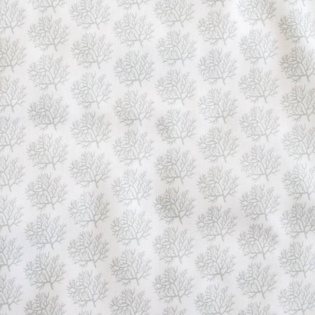 < corals silver gray > オーガニックコットンサテン生地 48cm x 70cm