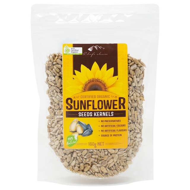 シェフズチョイス オーガニック サンフラワーシード160g 有機ひまわりの種 生 RAW Organic Sunflower Seed