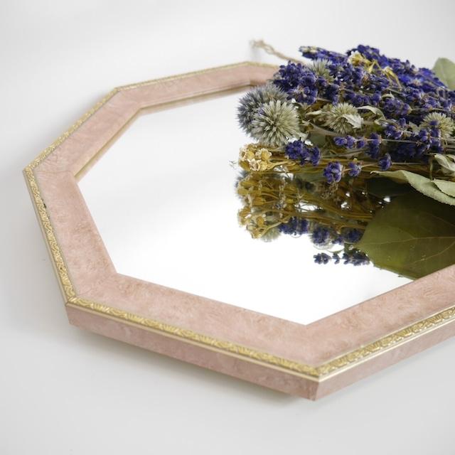 Octagon vintage mirror