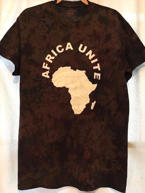 ガーナの手染めTシャツ【M】 AFRICA UNITE-⑭