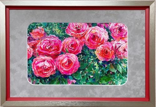 大口満・大島画廊コラボ額装 『薔薇』