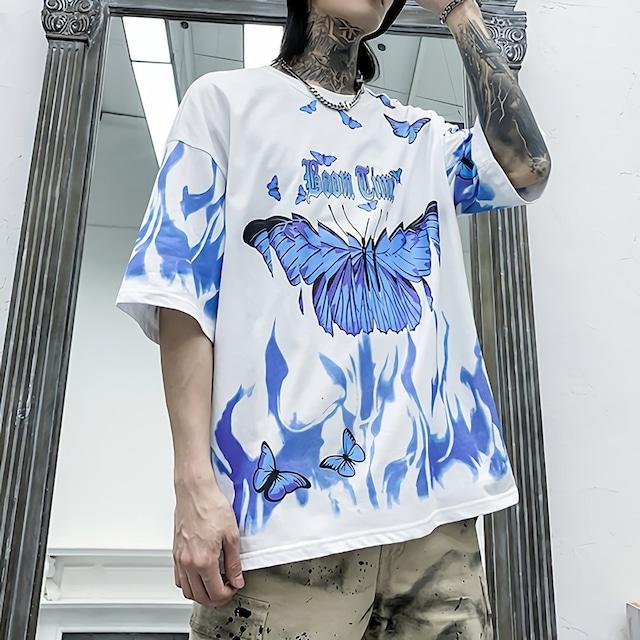 バタフライプリントシャツ(全2色) / HWG152
