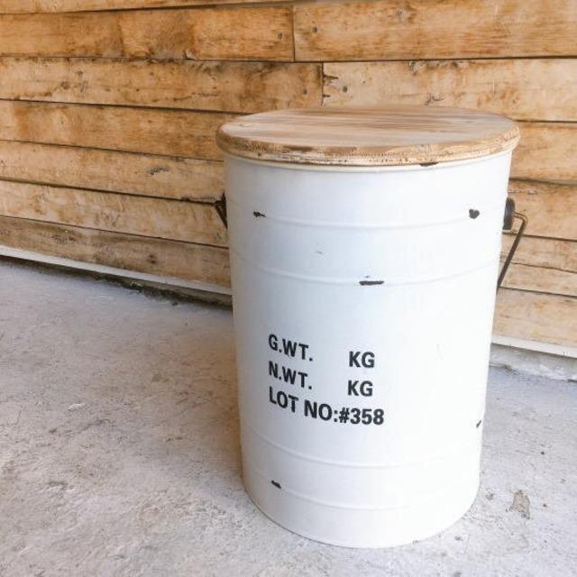 ドラム缶スツール ホワイト