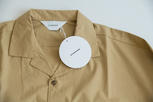 wonderland オープンカラーシャツ