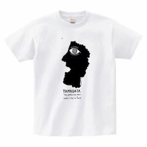 Yamagata the Face-山形県の顔Tシャヅ(白)