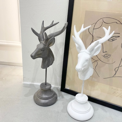 deer stand trophy 2colors / ヴィンテージ アンティーク調 ディア スタンド トロフィー 鹿 韓国 北欧 雑貨
