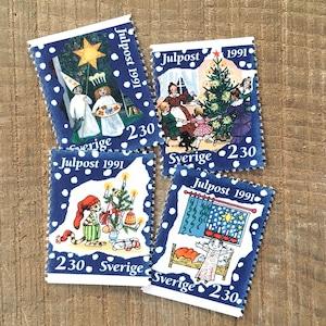 切手(未使用)「1991年版 クリスマス切手 - 4種セット(1991)」