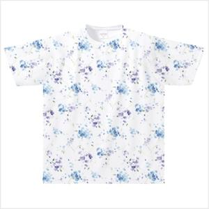 【受注発注商品】水彩アジサイ柄(ブルー) Mサイズ